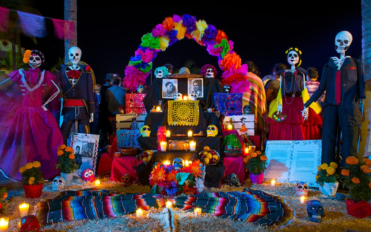 Day of the dead altar in Puerto Vallarta